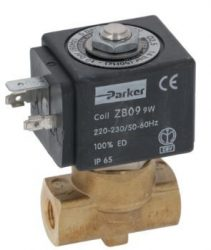 2-utas mágnesszelep Parker 230V 50 / 60Hz