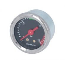 Kazán nyomásmérő ø 39 mm 0÷15 bar