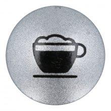 Ezüst gomb 'Milchkaffee' X7