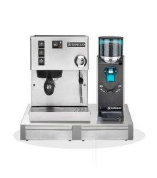 RANCILIO SILVIA V6E kávégép+ ROCKY daráló + RANCILIO rozsdamentes acél alap