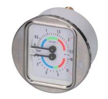 Kazán-szivattyú nyomásmérő ø 63 mm