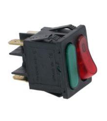 Piros bipoláris kapcsoló 16A 250V