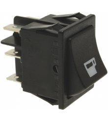 Fekete bipoláris váltó kapcsoló 16A 250