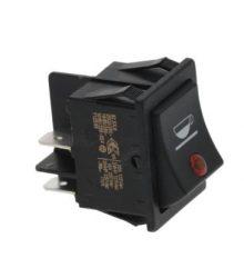 Kapcsoló 2 polusú fekete 16A 250V