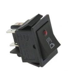 Bipoláris fekete kapcsoló 16A 250V