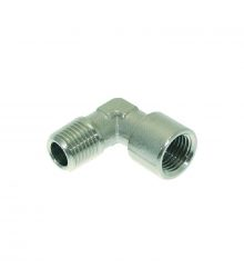 "NICHEL PLATED L-FITTING ø 1/4""M-1/4""F"