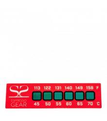 Hőmérséklet indikátor matrica