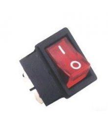 Billenőkapcsoló STV05 piros, világítós szögletes számos SZV620/623 (kicsi 1,5x2cm!!!)