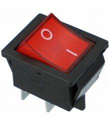 Billenőkapcsoló KB-131 Sarus kivitelben, piros SZV612/3 (2,5x3 cm !!)