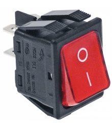 Bipoláris kapcsoló piros 16A 250V