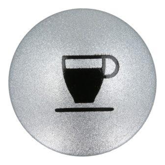Ezüst gomb 'Espresso' X7